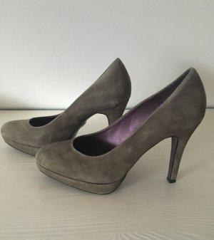 Neu Pumps high Heels grau Wildleder 37 hohe Schuhe 5th Avenue Business Shoes