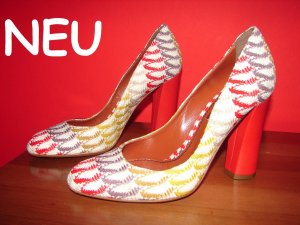 NEU Pumps MISSONI Multicolor-Chic roter Blockabsatz Gr.36 LP 499 €uro