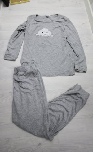 Pyjama gris-blanc
