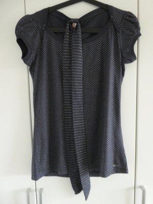 NEU – QS by s.Oliver  – Shirt, dunkelblau mit silbernen Punkten