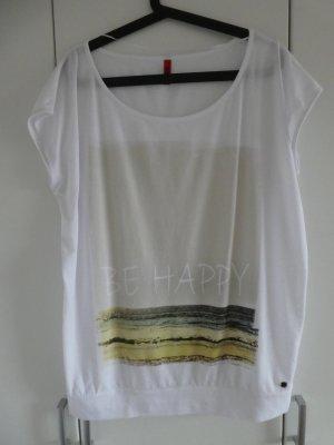 NEU – QS by s.Oliver – Shirt, weiß mit Aufdruck