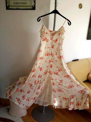 Neu Ralph Lauren Maxikleid Hippiekleid Blumenkleid Vintage Sommerkleid Bodenlang xs S