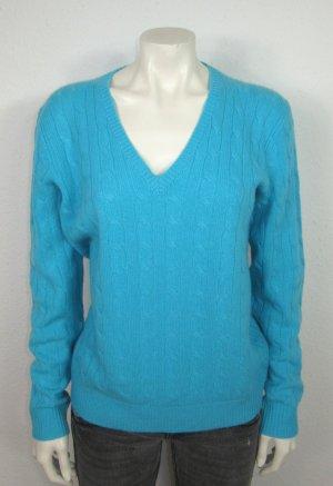 NEU RALPH LAUREN Pullover Gr. L blau CASHMERE