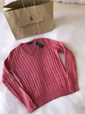 ••NEU••Ralph Lauren Pullover Gr.M 100%Baumwolle Farbe:corallen-rot