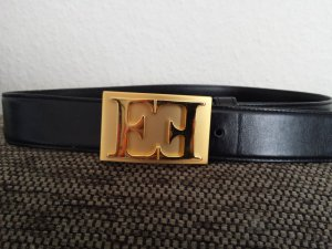 Escada Leather Belt black leather