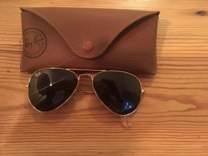 Ray Ban Aviator Glasses gold-colored-black