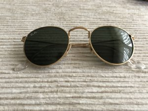 Ray Ban Round Sunglasses black-gold-colored