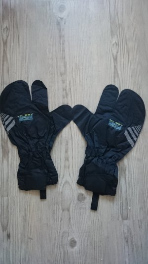 Gloves black synthetic material