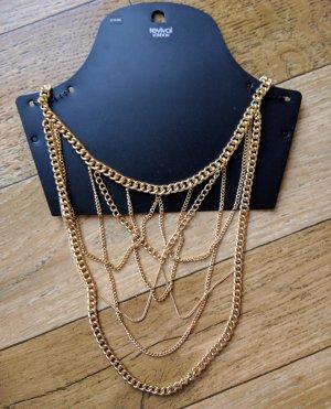 Neu Revival goldene Halskette