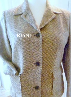 Riani Wool Blazer brown-beige wool