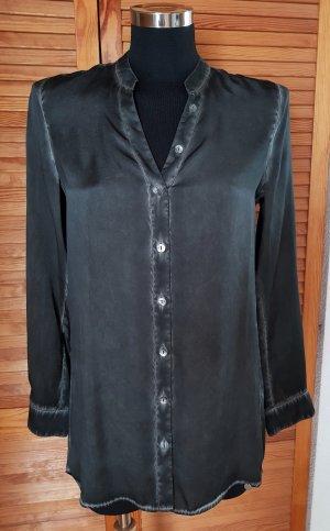 NEU Rich&Royal Edle Vintage Tunika Bluse 100% Seide 34 /36 Anthrazit NP 129€