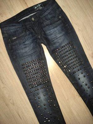 NEU Rich & Royal Skinny Jeans W27 NEU Röhrenjeans mit Nieten