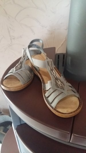 Rieker Comfort Sandals silver-colored-light grey leather
