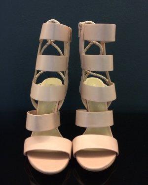 Aldo High Heel Sandal nude imitation leather