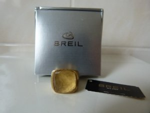 Neu! Ring von Breil Citrin Größe 57 goldfarben