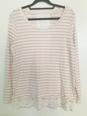 Camisa de rayas rosa-blanco puro