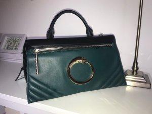 NEU Roberto Cavalli class Handtasche Rock Diva grün schwarz