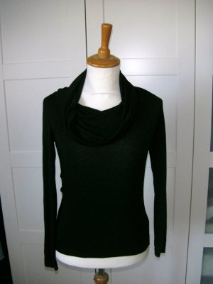 H&M Turtleneck Shirt black viscose