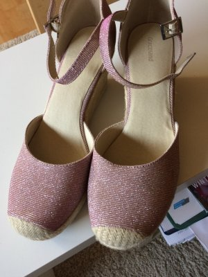neu rose Schuhe in metallic optic