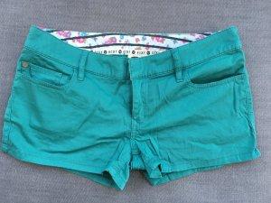 Roxy Denim Shorts turquoise cotton