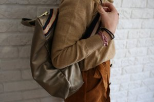 Borse in Pelle Italy Laptop Backpack camel leather