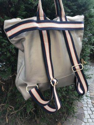 Borse in Pelle Italy Sac à dos pour ordinateur portable chameau cuir