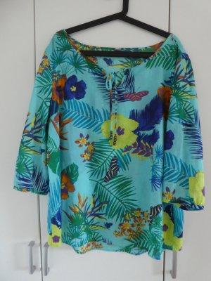 NEU – s.Oliver – Damen Bluse mit Blumenprint, hellblau