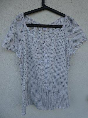 NEU - s.Oliver - Kurzarm Bluse weiß mit schwarzen Punkten