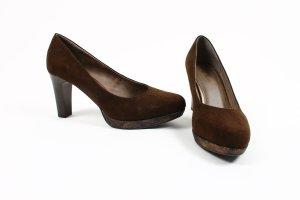 NEU * s.Oliver Pumps Schuhe High Heels 39 40 braun bronze gold metallic *