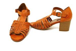 * NEU * s. Oliver Sommer Schuhe Pumps Leder Sandalen 39 braun