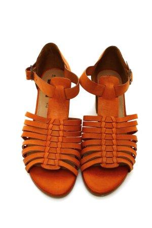 * NEU * s. Oliver Sommer Schuhe Sandaletten Pumps Leder Sandalen 39 braun