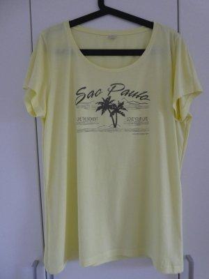 NEU – s.Oliver  – T-Shirt mit Aufdruck, hellgelb