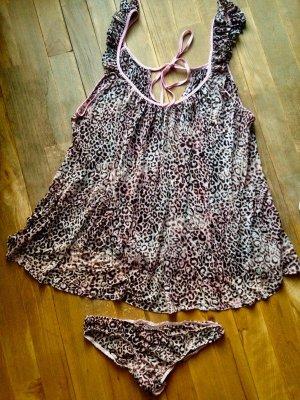 Victoria's Secret Conjunto de lencería marrón-rosa