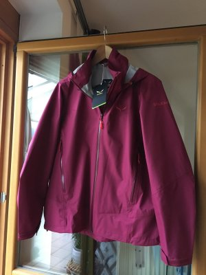 Salewa Imperméable rouge framboise-violet
