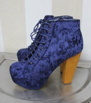 NEU Samt Boots High Heels
