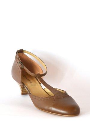NEU - Sandale mit Absatz - hell braun