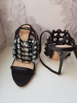 ++NEU++ Sandaletten/High Heels mit türkisblauen Steinen