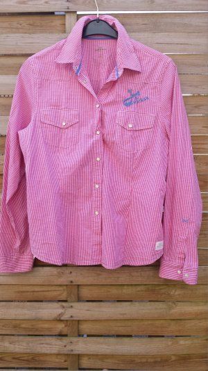 Neu Sansibar Sylt Bluse Polo Soprt Karo Karriert Pink Weiß gr XXL