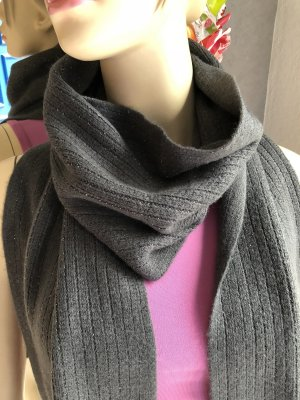 Fringed Scarf anthracite-silver-colored
