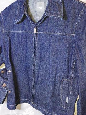 Esprit Veste en jean bleu foncé coton