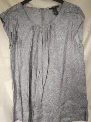Neu! Schicke H&M Bluse in grauglänzender Viscosequalität! Gr. S
