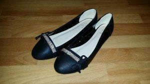 NEU schöne schwarze Ballerinas mit Steinchen,Gr. 39 von SDS