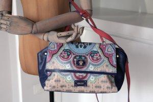 Neu schöne und seltene Oilily Leder Luxus Handtasche Schultertasche Clay Flowers