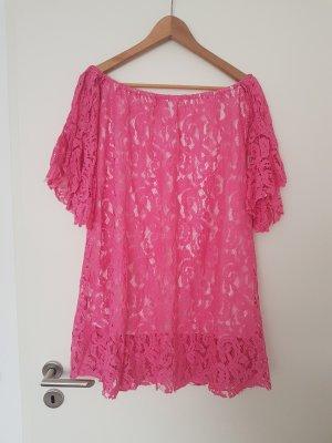 Neu schönes Spitzenkleid Kleid in pink Gr. M