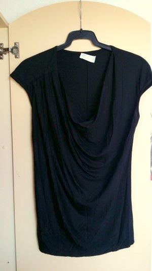 NEU schönes Top mit Wasserfall Ausschnitt in schwarz von Zara/ Gr. S