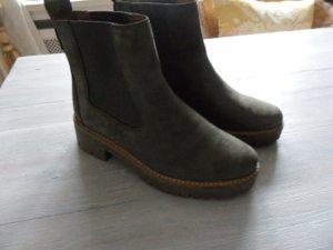NEU Schuhe Original Timberland Gr.38 , Leder, khaki/grün Chelsea Boots Stiefel