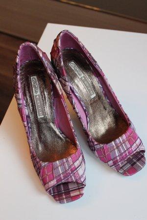 NEU: Schuhe Peeptoes Pumps von BUFFALO lila pink UNGETRAGEN