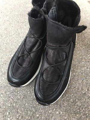 NEU Schuhe schwarz 39 40 gefüttert Stiefel sneaker