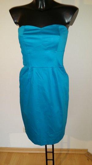 Orsay Off the shoulder jurk neon blauw