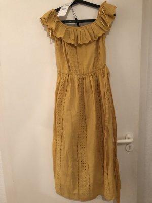 Zara Vestido a media pierna amarillo